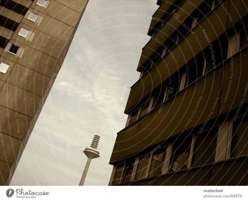 SORRY JUNGS™ Himmel Stadt blau Einsamkeit Wolken Haus Ferne dunkel Fenster Leben Architektur Traurigkeit Gebäude Freiheit fliegen oben