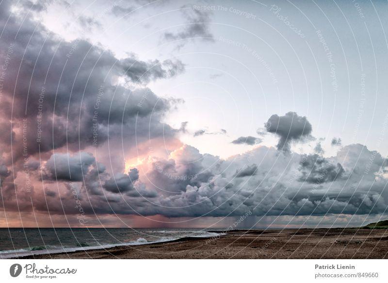 Wolken ziehen vorbei Himmel Natur Ferien & Urlaub & Reisen Wasser Erholung Meer Landschaft Ferne Umwelt Küste Freiheit Stimmung Regen Luft Wellen
