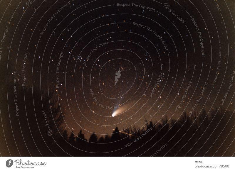 hale bop Komet Nacht Langzeitbelichtung Stern analog 1997 Sternenhimmel