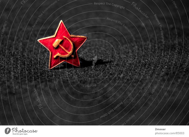 Minimal army rot grau Stern (Symbol) Macht Dinge Russland Wahrzeichen Hammer Adjektive Armee Anstecker Stecknadel Ideologie Medaille Sozialismus Sowjetunion