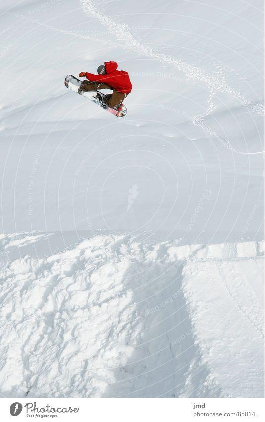 Frontside 360 Stalefish rot Freude Winter Schnee Sport fliegen springen Freizeit & Hobby hoch Mut Jacke Snowboard Wintersport Freestyle Schweiz Trick