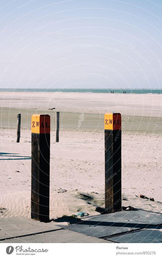 nordseestrand Natur Ferien & Urlaub & Reisen Wasser Erholung Meer Landschaft ruhig Strand Ferne Umwelt Küste Freiheit Sand Horizont orange Zufriedenheit