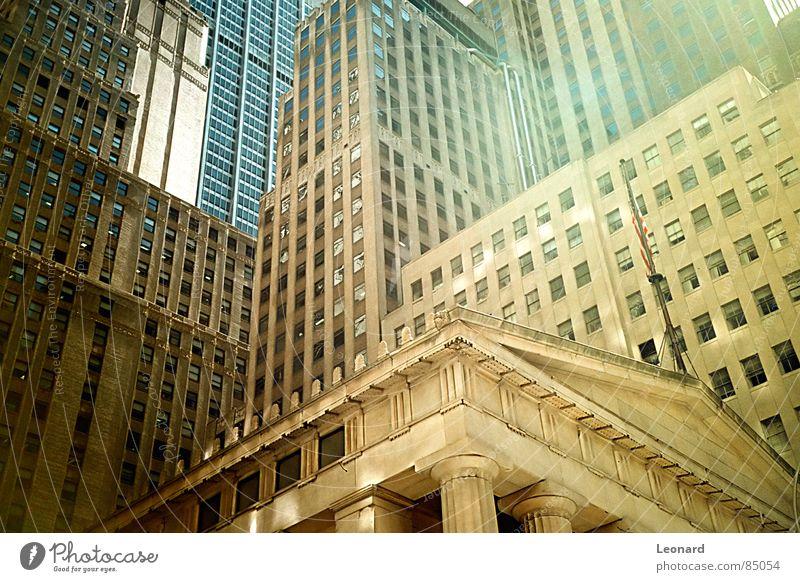 NYC Dinge Arbeit & Erwerbstätigkeit Unternehmen Aufgabe Wall Street Amerika Abteilung Manhattan New York City Haus Hochhaus Fenster Konzepte & Themen USA