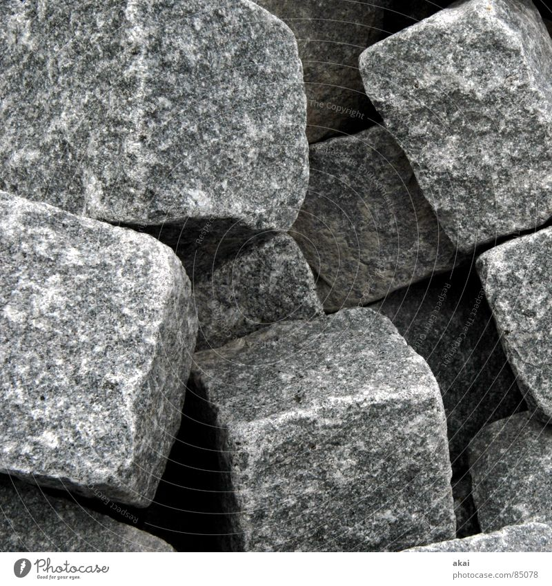 Hart wie Granit 1 Steinhaufen Quader Haufen Mineralien Erde Sand Kunst Kunsthandwerk feldspat gneiß auf einen Haufen werfen zusammenwerfen Würfel kubus Stapel
