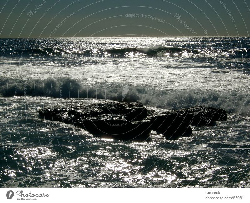 Brandung Wasser Meer Wellen Horizont Felsen Abenddämmerung Brandung Limonade