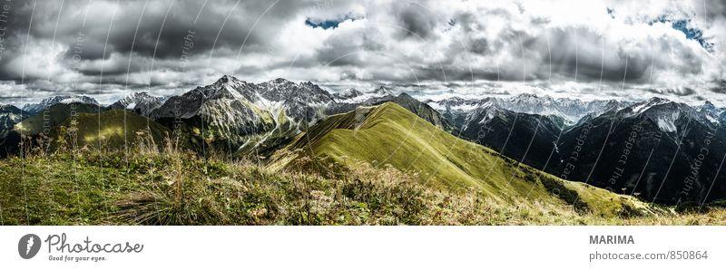 Lechtaler Alpen - Hönig Himmel Natur Ferien & Urlaub & Reisen grün Sommer Erholung Landschaft ruhig Wolken Umwelt Berge u. Gebirge Bewegung Wiese Herbst Gras