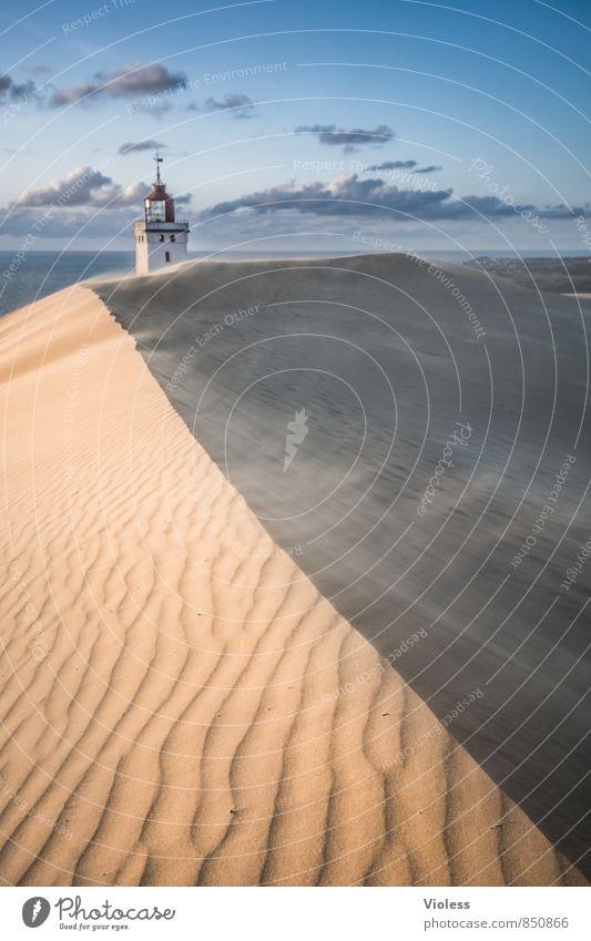 cross the line Natur Ferien & Urlaub & Reisen Sommer Sonne Meer Landschaft Strand Küste Gebäude außergewöhnlich Sand Wellen Wind Tourismus Insel Urelemente