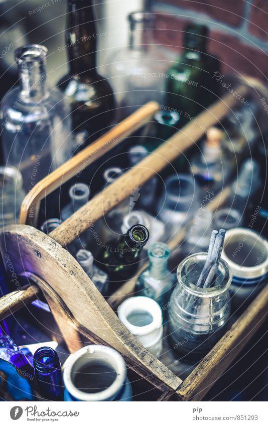 altglas glänzend Dekoration & Verzierung Glas leer ästhetisch Flasche antik Flaschenhals