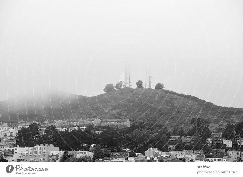 San Francisco | Twin-Peaks-Blick Nebel Hügel USA trüb