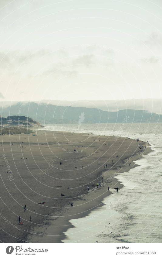 Alles fließt: Ocean Beach Natur Landschaft Wasser Wolken Frühling Sommer Herbst Winter Wind Wellen Küste Meer Schwimmen & Baden San Francisco ocean beach
