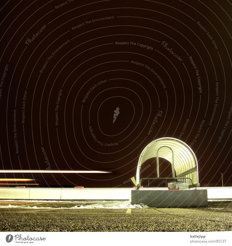 faster than the speed of night Bewegung PKW Beleuchtung Architektur Dach Bodenbelag Nachthimmel Parkplatz Parkhaus Teer Einkaufswagen Mikrochip Parkdeck Abstellplatz