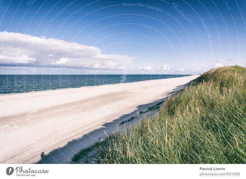 Strandtag II Himmel Natur Ferien & Urlaub & Reisen Sommer Sonne Meer Erholung Landschaft Ferne Umwelt Freiheit Wellen Zufriedenheit Tourismus Insel