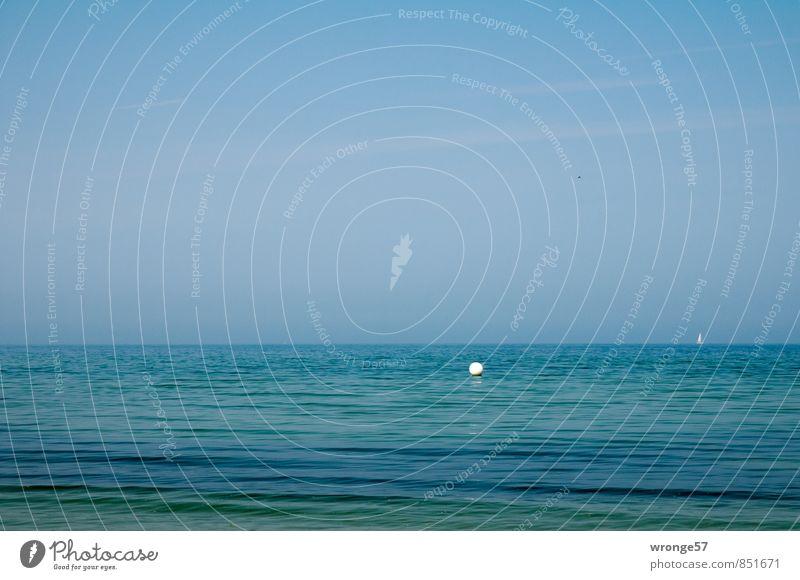 Bildstörung Himmel Natur blau Wasser Sommer Meer Ferne Umwelt Küste Horizont Wellen Schönes Wetter Textfreiraum Unendlichkeit Ostsee Blauer Himmel