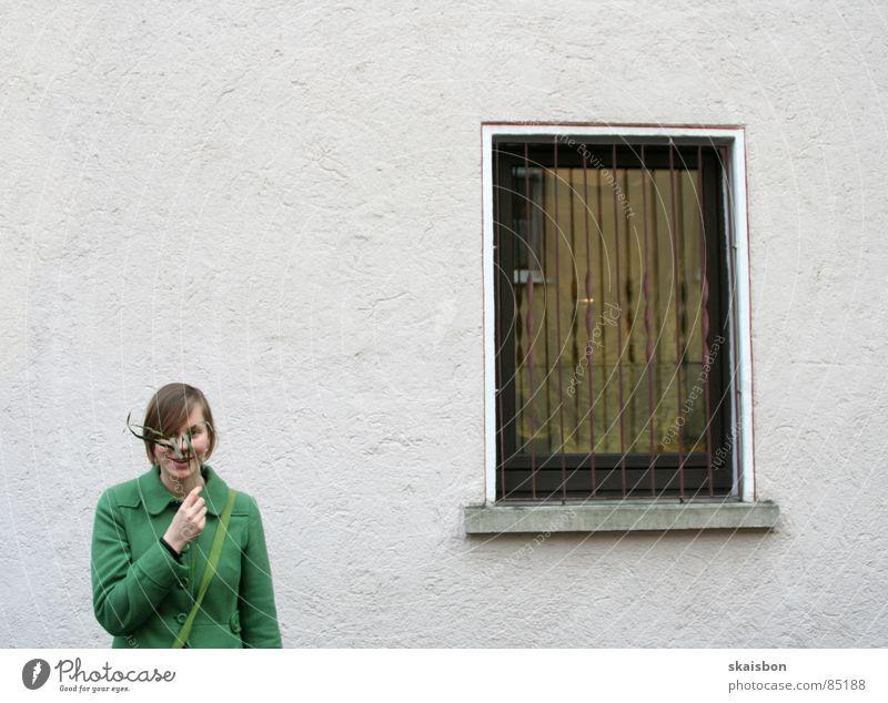 tarnung ist alles Jugendliche grün Pflanze Freude Wand Fenster Wege & Pfade Sicherheit Ast festhalten entdecken Mantel verloren Zweig wenige