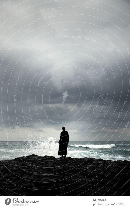 wild coast Mensch Himmel Natur Ferien & Urlaub & Reisen Meer Wolken Strand Ferne Umwelt Küste natürlich Freiheit Horizont Wetter Wellen