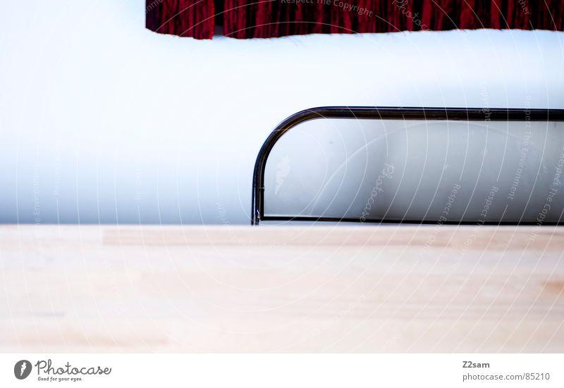 sitzplatz Tisch Vorhang Stoff durchsichtig horizontal Verlauf Wand Holz Holzmehl Dinge Sitzgelegenheit sitzen Stuhl Linie lines Schatten