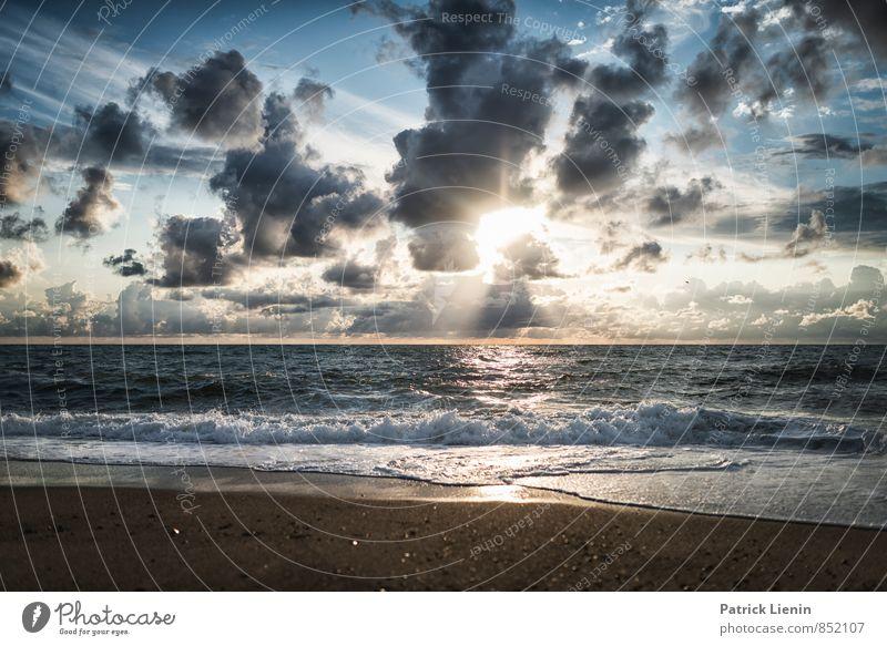 Strandtag III Natur Ferien & Urlaub & Reisen Sommer Meer Erholung Landschaft ruhig Ferne Umwelt Küste Freiheit Wetter Wellen Zufriedenheit Tourismus