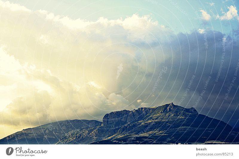 mountain Himmel Wolken Licht Berge u. Gebirge Sommer sky clouds dawn light Außenaufnahme