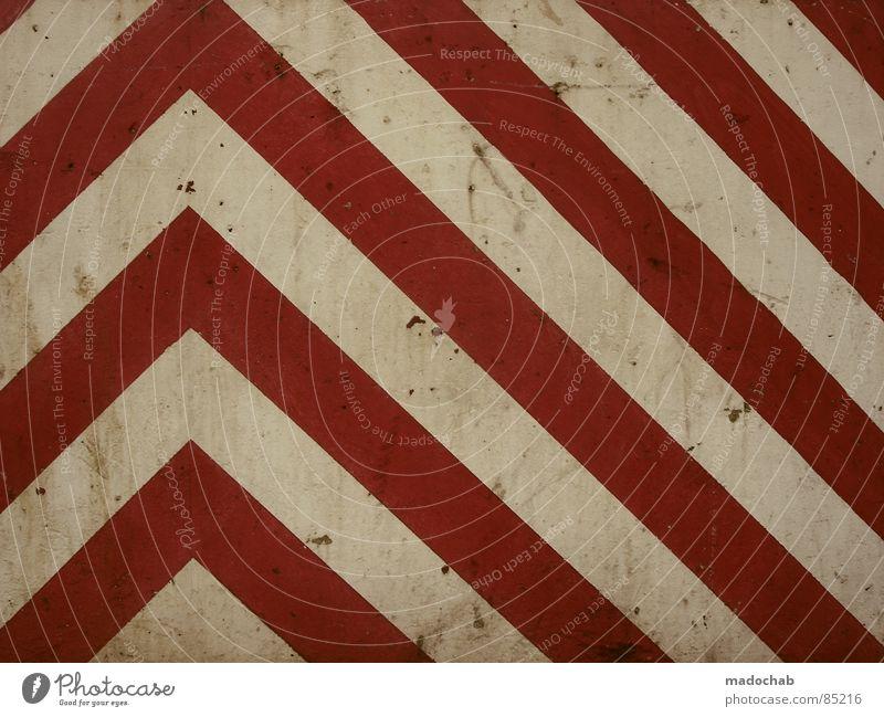 ///\\\\\\ rot Stil Denken Linie dreckig Hintergrundbild Schilder & Markierungen Verkehr einfach Streifen trashig Hinweisschild Grafik u. Illustration Wachsamkeit diagonal Respekt