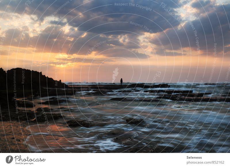Guten Morgen Wochenende Ferien & Urlaub & Reisen Tourismus Ausflug Abenteuer Ferne Freiheit Sommer Sommerurlaub Sonne Sonnenbad Strand Meer Wellen 1 Mensch