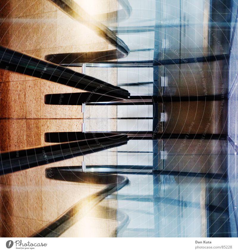Quadratur der Linien schwarz Farbe Fenster Lampe Linie Glas modern Bodenbelag Surrealismus Biegung Gummi Stil Kaufhaus