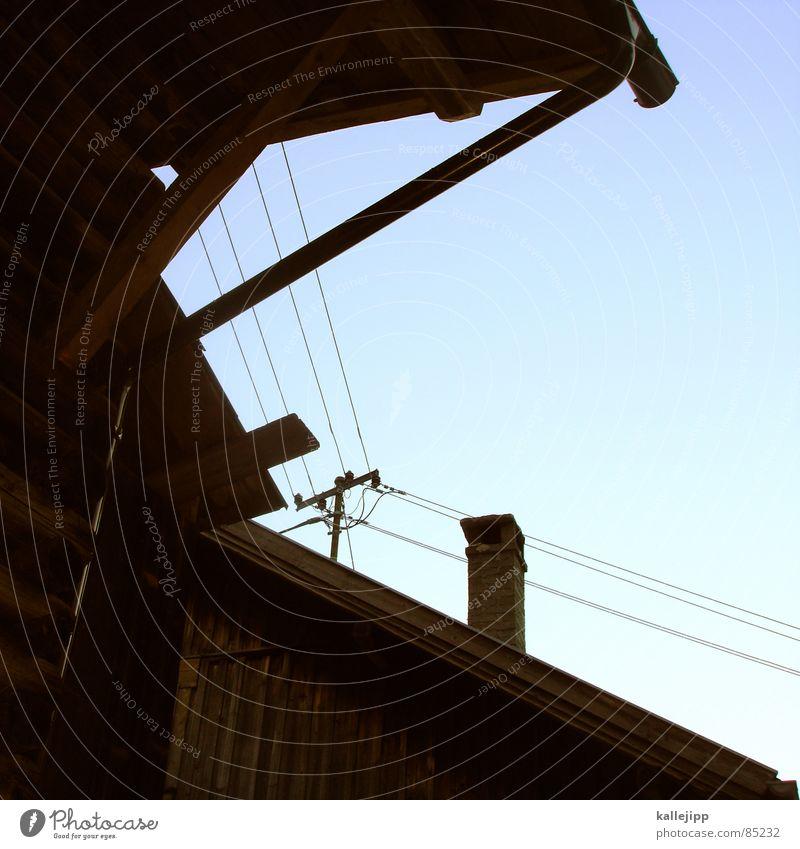 kabelanschluss Holz Elektrizität Dach Hütte Haustier Schornstein Österreich Leitung Scheune Alm Selbstständigkeit Stroh Bundesland Tirol Winterurlaub Bergdorf Ischgl