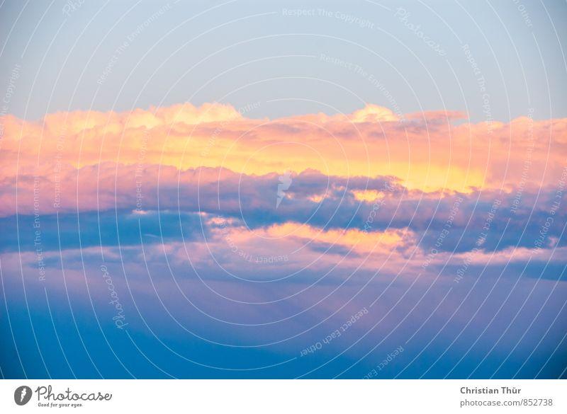 Wolkenhimmel Natur Ferien & Urlaub & Reisen blau Sommer Erholung rot ruhig Ferne gelb Freiheit rosa Zufriedenheit gold Schönes Wetter beobachten