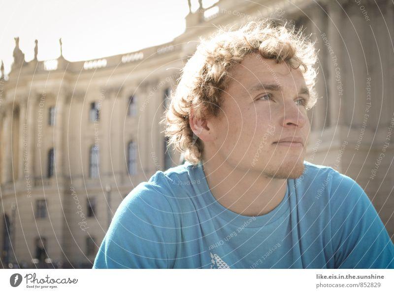 neulich in Berlin. Jugendliche Herbst Berlin maskulin Zufriedenheit blond Locken