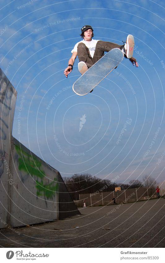 Kickflip 01 springen Skateboarding Skateboard Extremsport Kickflip
