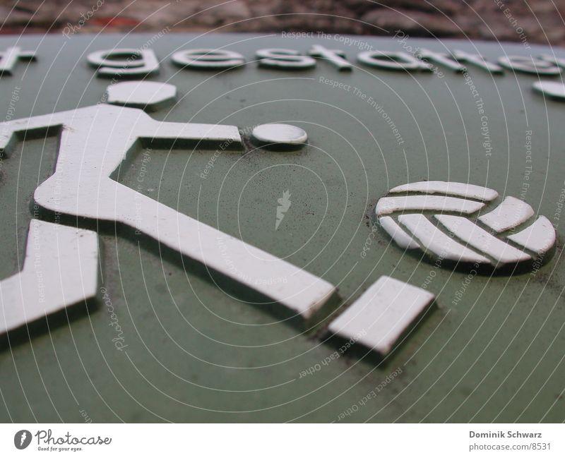 Spaßverbot Sommer Sport Spielen Fußball Freizeit & Hobby obskur Warnhinweis Piktogramm Verbotsschild