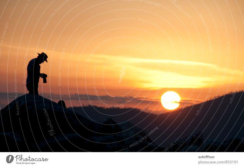 Come to where the flavour is Mensch maskulin Junger Mann Jugendliche Erwachsene 1 Landschaft Sonne Sonnenaufgang Sonnenuntergang Sonnenlicht Schönes Wetter