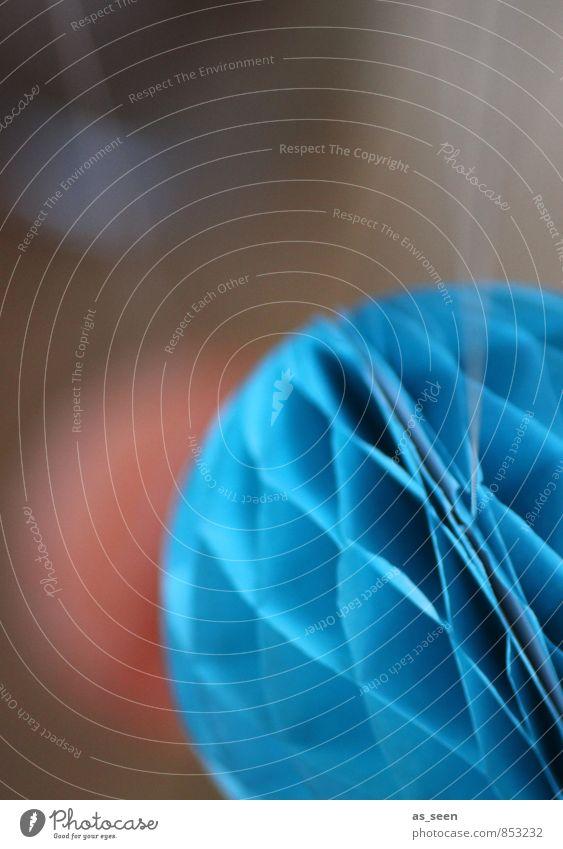 Blauer Papierballon blau Farbe Stil Freizeit & Hobby Wohnung Häusliches Leben elegant Design Zufriedenheit Dekoration & Verzierung ästhetisch Kreativität Lebensfreude Papier rund einzigartig