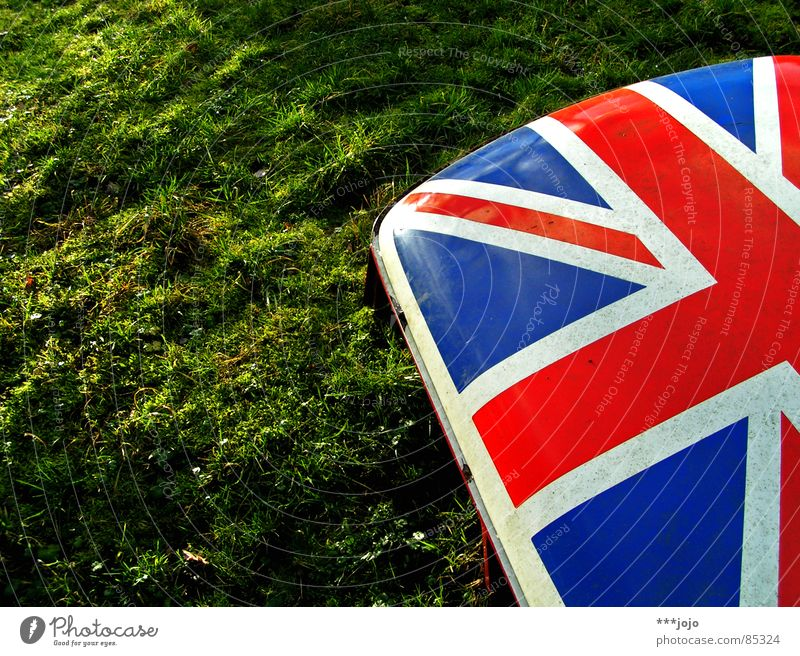 britpop two Sonne grün rot Farbe Wiese Gras Beleuchtung Kraft klein Europa Macht Insel Rasen Fahne Klarheit Amerika