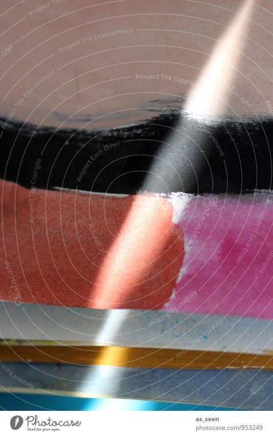 Lichtkunst Leben Freizeit & Hobby Innenarchitektur Dekoration & Verzierung Bild Kunst Maler Kunstwerk Gemälde Papier Lichtstrahl leuchten Aggression ästhetisch