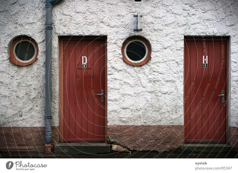 Arbeitsplatz des Grafen v. Droste-Schattenburg Frau Rundfenster Toilettenbürste Montezumas Rache Waschhaus Herr Dame Toilettenpapier Fenster Lüftung Abwasser