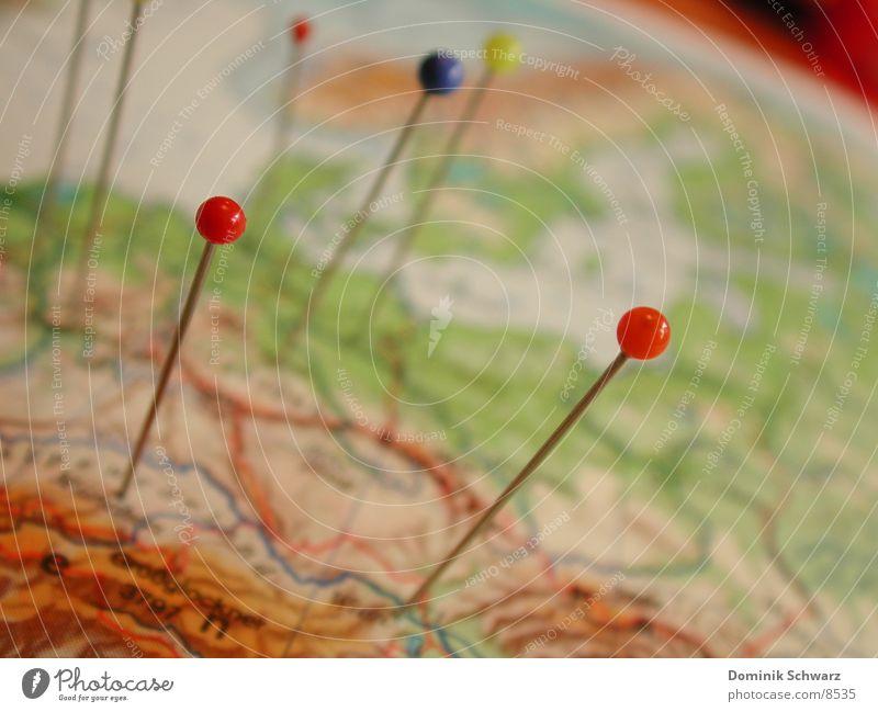 Daheim in der Welt Freizeit & Hobby Schilder & Markierungen planen Reisefotografie Information Globus Amerika Landkarte Fernweh Nadel Stecknadel wegfahren Atlas