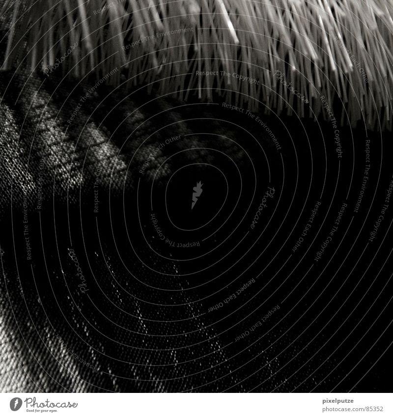 rätselhaft schwarz Linie verrückt Ordnung trist Reinigen Quadrat obskur Oberfläche Linse Faser Borsten Schattenspiel Lichteinfall verdunkeln Haptik