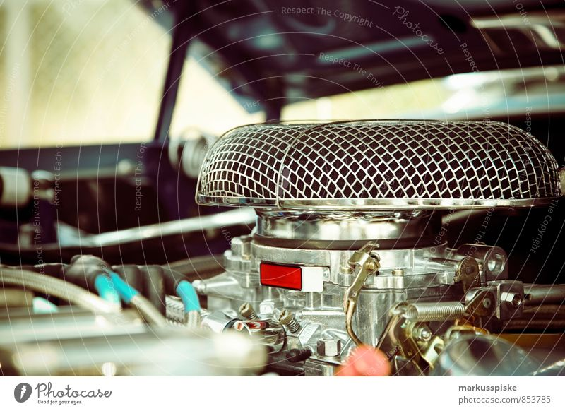 big block V8 motor Lifestyle Reichtum elegant Stil Design Freude Glück Verkehrsmittel Straßenverkehr Autofahren Fahrzeug PKW Oldtimer Muscle-Car Motorblock