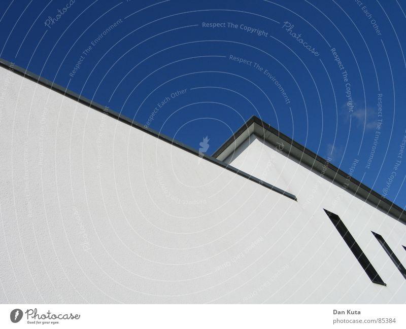 Wandbild Himmel Wand Fenster grau Linie Wetter Perspektive modern Ecke Dach geschnitten traumhaft Wochenende Abtrennung Freitag