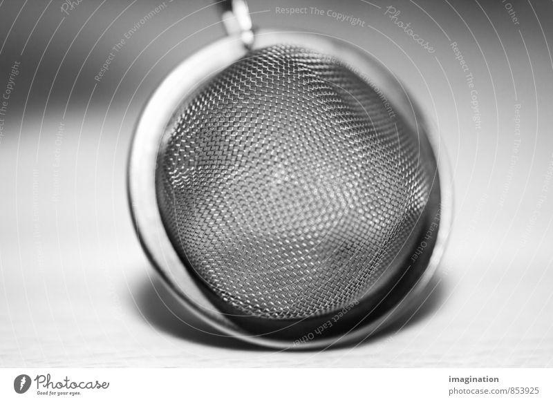 Teesieb abstrakt Erholung Gesundheit Lebensmittel Metall Design elegant genießen rund Küche Gastronomie harmonisch Tee silber Büffet Brunch Kaffeetrinken