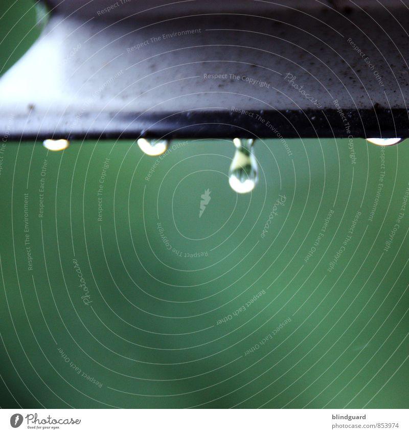 natürlich | Abtropfgewicht erreicht schlechtes Wetter Regen Fenster Metall Wasser weinen authentisch Flüssigkeit glänzend einzigartig grün schwarz weiß