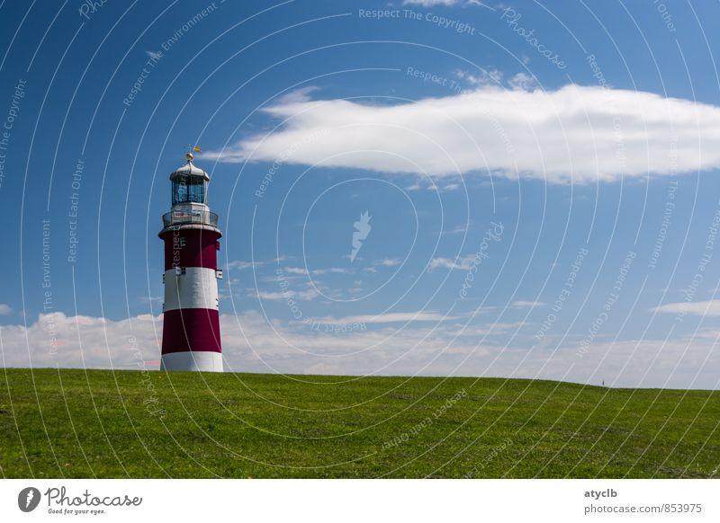 Smoking Lighthouse Ferien & Urlaub & Reisen Sommer Wolken Freiheit Luft Freizeit & Hobby Schönes Wetter Turm Schutz Hafen Denkmal Schifffahrt Nordsee