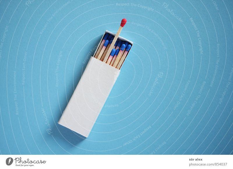 Hast Du mal Feuer? blau weiß rot Erfolg einzigartig Sitzung Karriere Streichholz Charakter kompetent Verbesserung bewerben