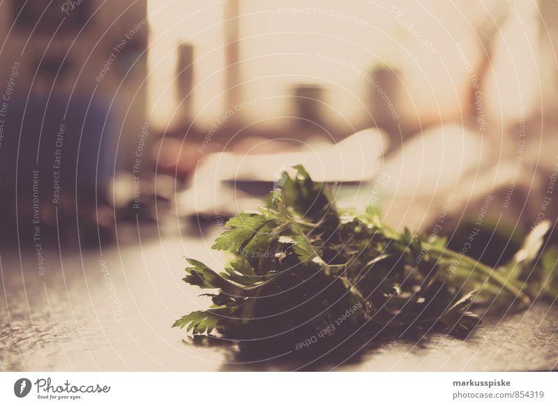 Petersilie Gesunde Ernährung Leben Innenarchitektur Stil Lebensmittel Wohnung Häusliches Leben elegant Dekoration & Verzierung Ernährung Tisch Küche Kräuter & Gewürze Gemüse Duft Bioprodukte