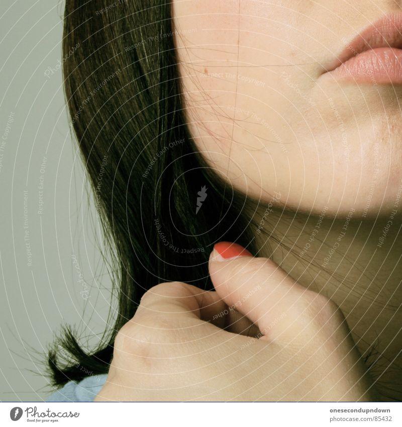 senses fail Jugendliche schön rot Haare & Frisuren Mund ästhetisch Beautyfotografie weich Lippen Frieden Teile u. Stücke Dame Junge Frau sanft anonym Wange
