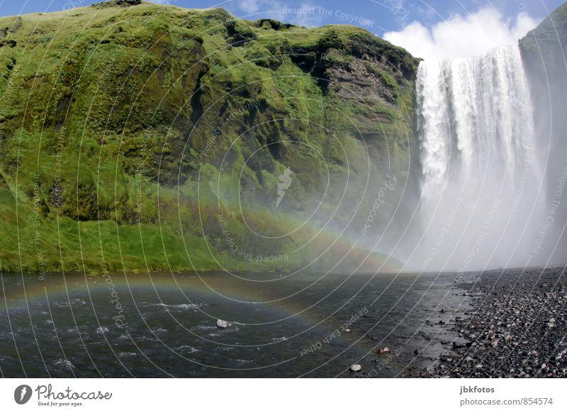 ISLAND / Skógarfoss II Umwelt Natur Landschaft Pflanze Urelemente Wasser Wolken Klimawandel Felsen Berge u. Gebirge Kraft Macht schön Leben Fernweh Höhenangst