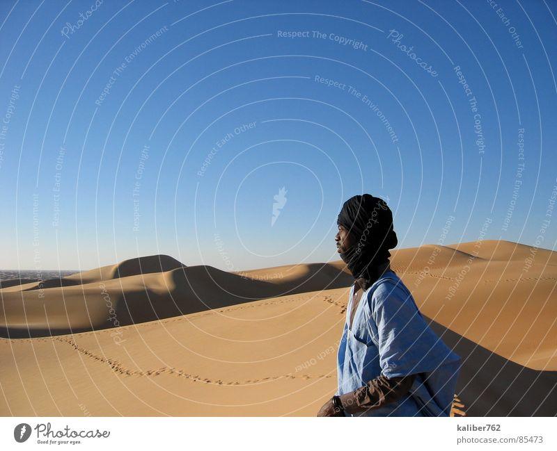 Mahmoud's Heimat Einsamkeit Wüste Spuren Sehnsucht Afrika Stranddüne Sahara Mauretanien