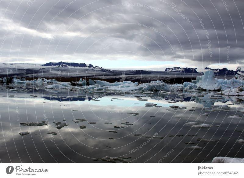 ISLAND / Ice Bucket Challenge Umwelt Natur Landschaft Pflanze Urelemente Erde Wasser Wolken Gewitterwolken Sommer Klima Klimawandel Eis Frost Gletscher dreckig