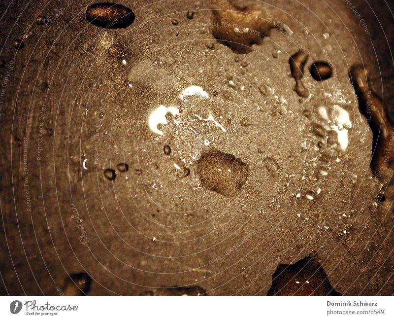 wischbar Makroaufnahme Oberfläche Reflexion & Spiegelung Küche Wassertropfen Detailaufnahme Metall Flüssigkeit