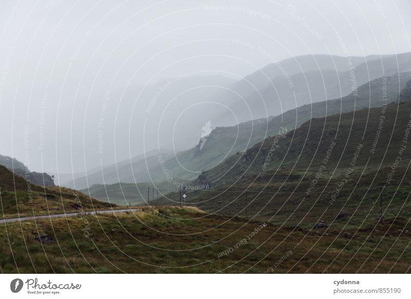 Wetterwechsel Ferien & Urlaub & Reisen Ausflug Abenteuer Ferne Freiheit Umwelt Natur Landschaft Nebel Regen Hügel Berge u. Gebirge Einsamkeit einzigartig